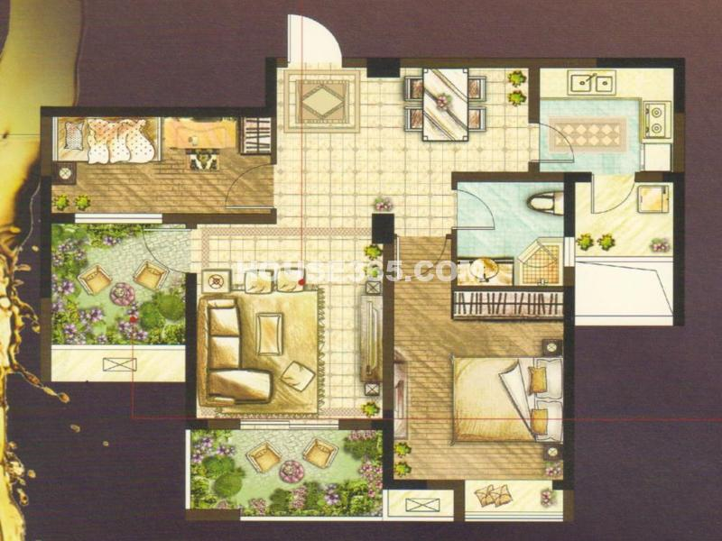 蝶变F户型(68#69#楼)-两室两厅一卫88㎡