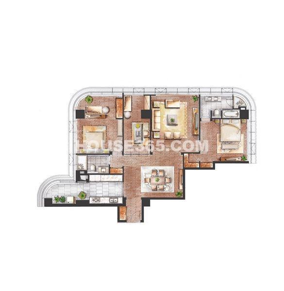 A2三室两厅两卫198㎡
