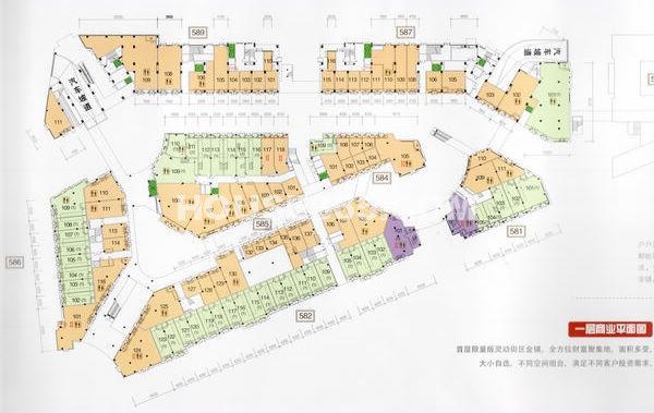 太科园龙湖星悦荟一层商业平面图