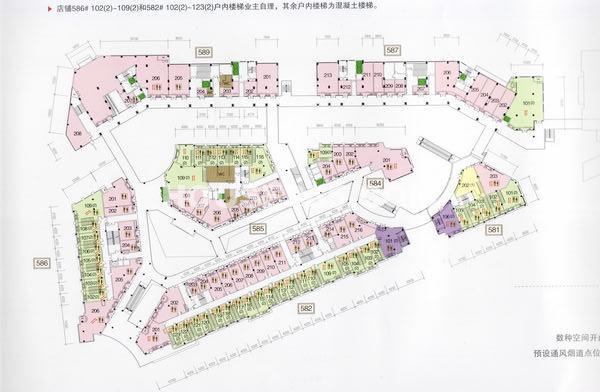 太科园龙湖星悦荟二层商业平面图