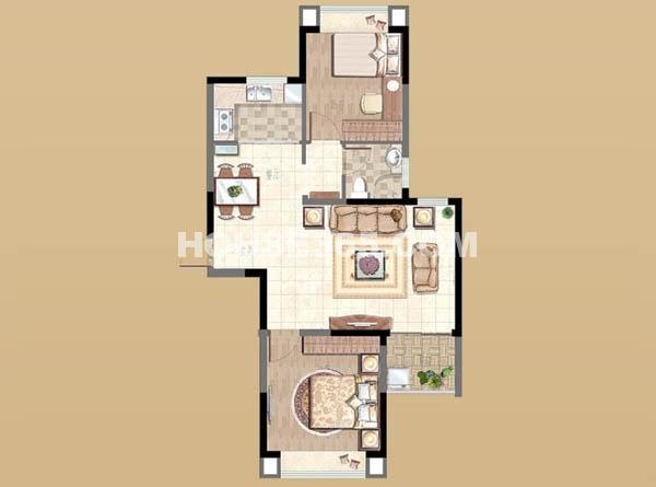 新湖明珠城2#B户型2室2厅1卫1厨 89.00㎡.jpg