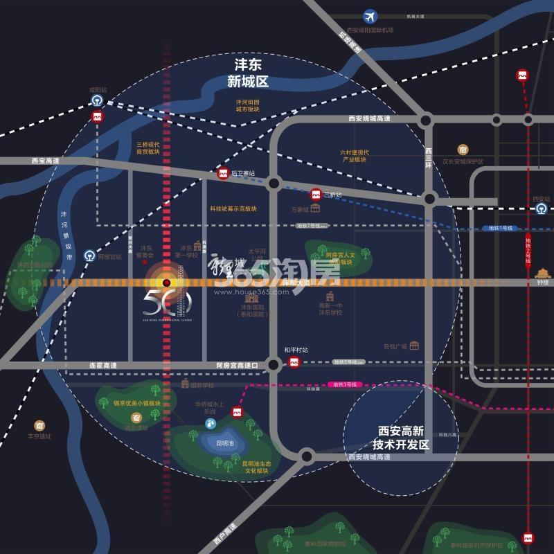 绿地新里城区位图