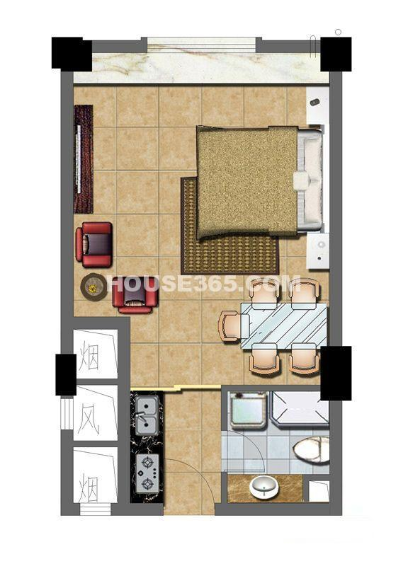 华夏元基商务公寓户型图