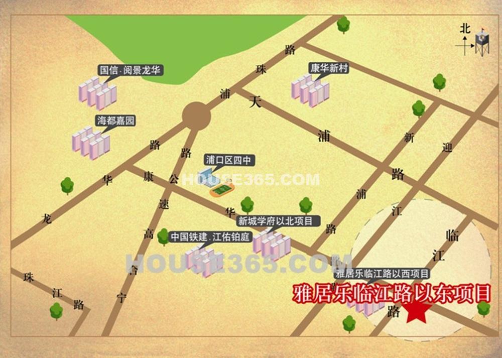 雅居乐滨江国际交通图