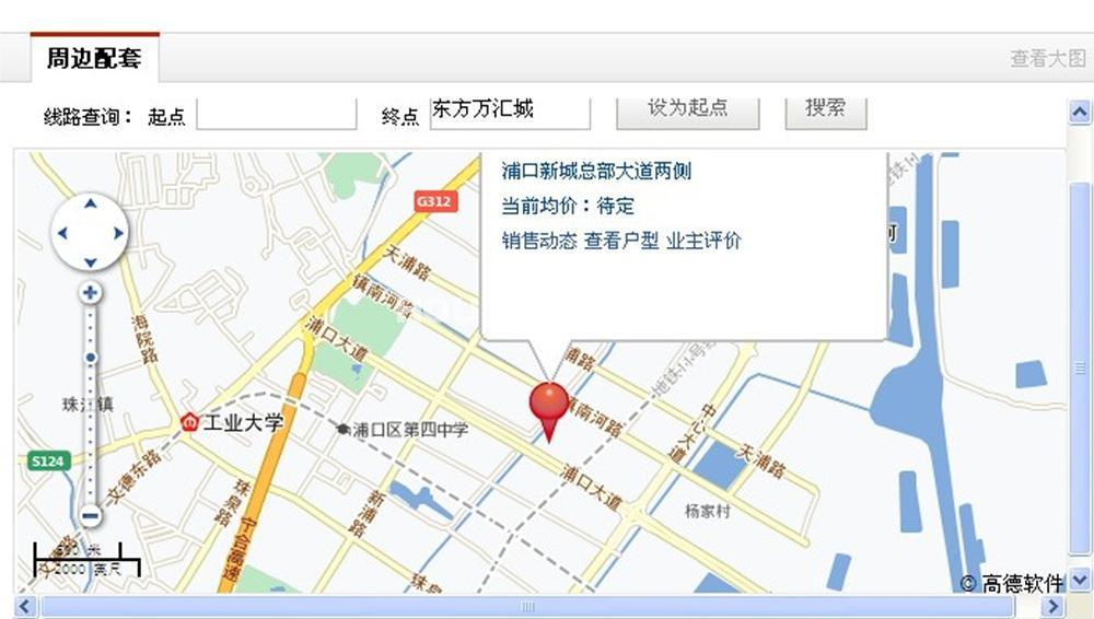 东方万汇城交通图