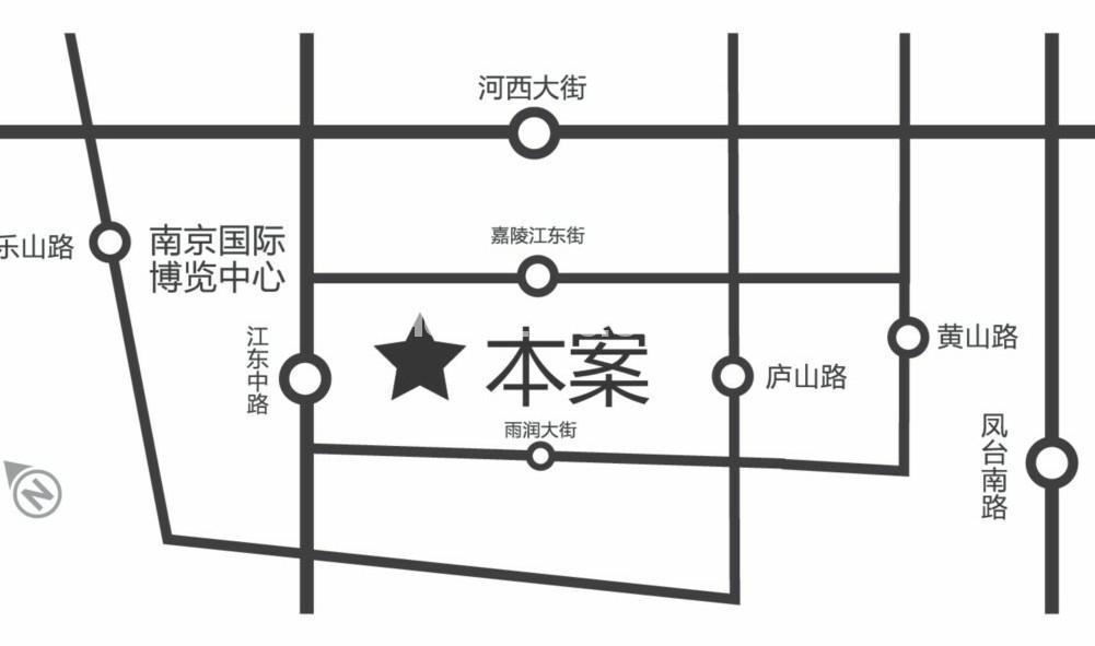 南京金融城交通图