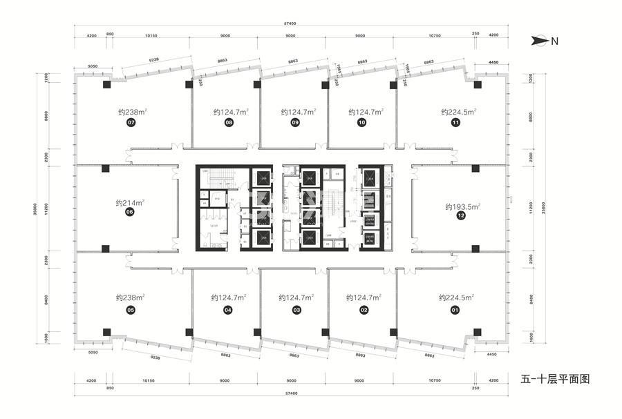 万科金域国际5-10层楼层图