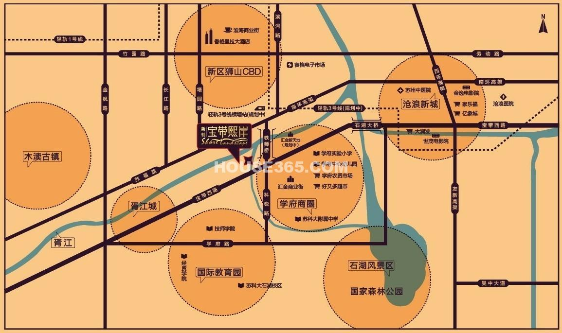 苏高新熙庭交通图