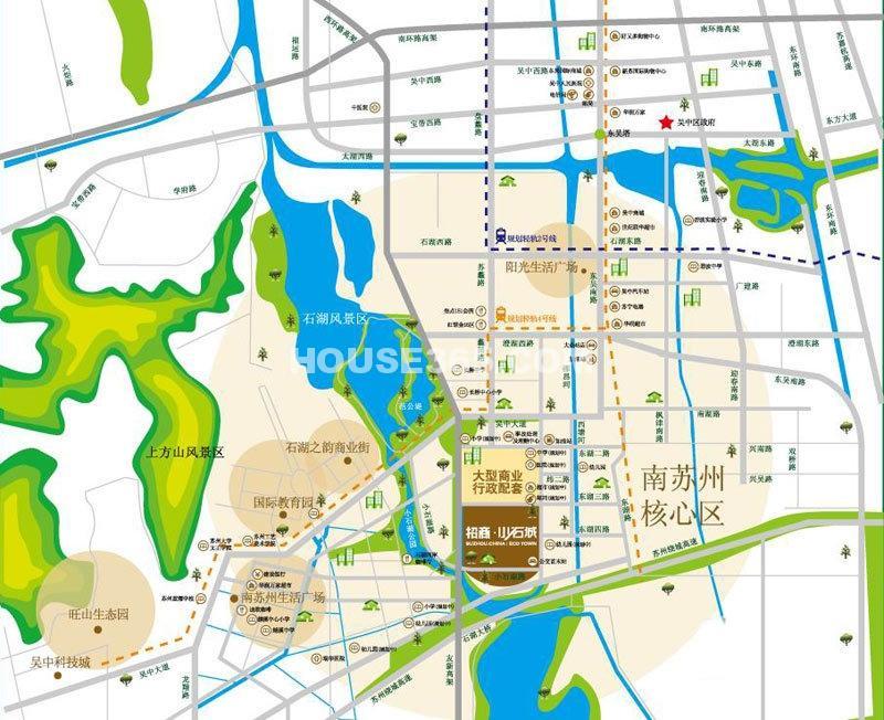 招商小石城交通图