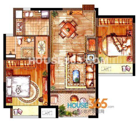 绿地中心泊珑湾B户型2室2厅1卫1厨 88.00㎡.jpg