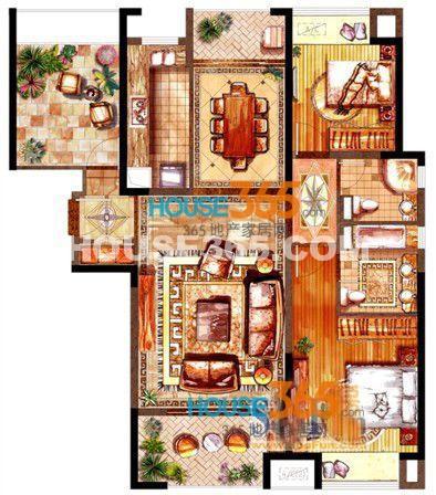 绿地中心泊珑湾A户型图2室2厅2卫 123.00㎡.jpg