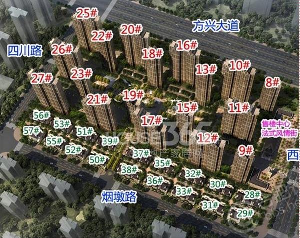 旭辉外滩18栋鸟瞰图