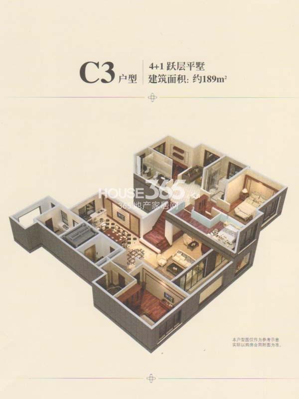C3户型-4+1跃层平墅