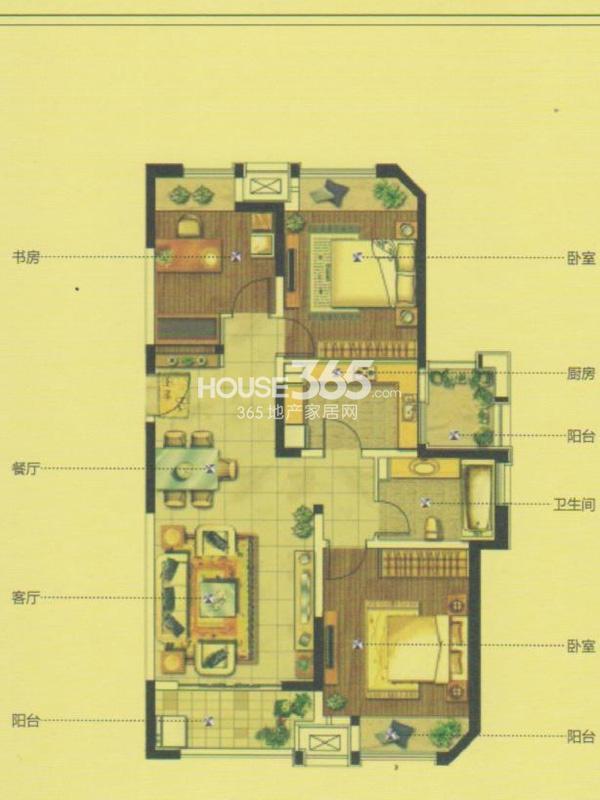 GC1户型(11#)-三室两厅一卫