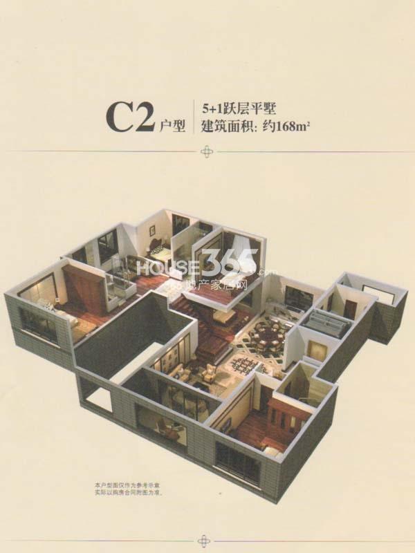 C2户型-5+1跃层平墅
