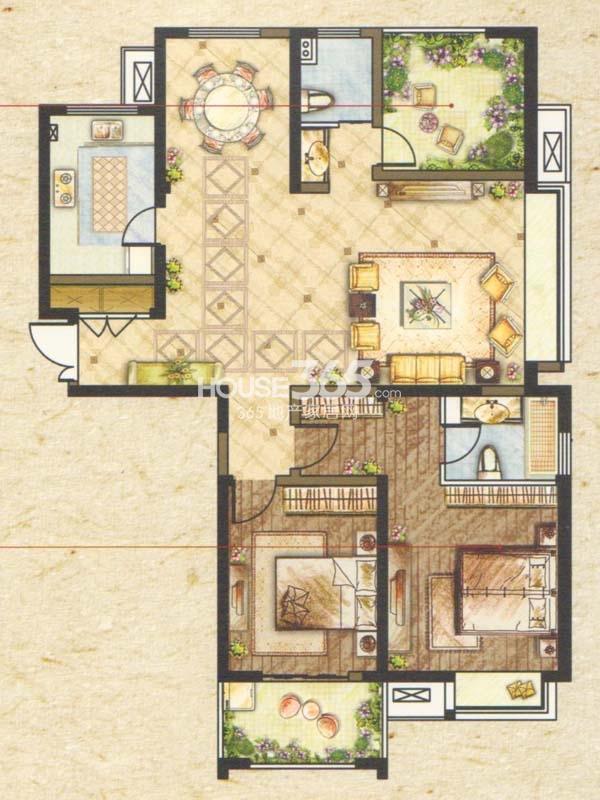 A3户型-三室两厅两卫