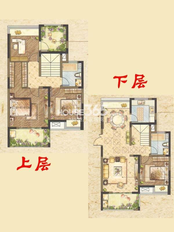 跃墅B户型-御墅五室两厅两卫