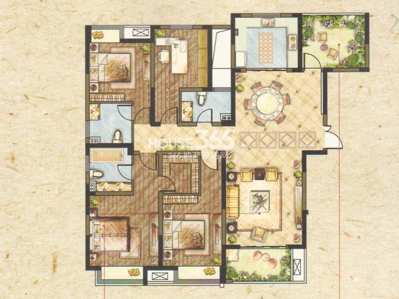 B1户型-五室两厅三卫