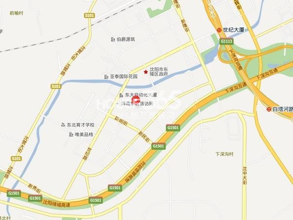 沈阳月星国际城交通图