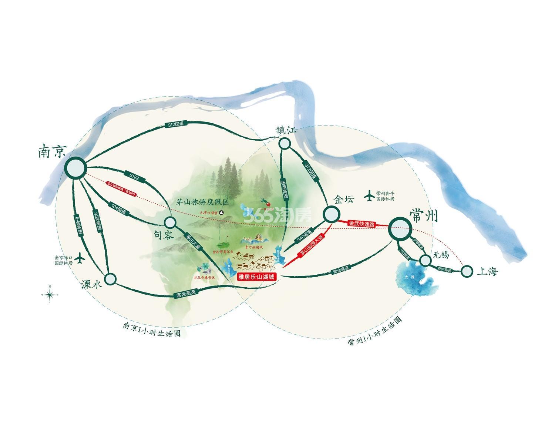 雅居乐山湖城交通图
