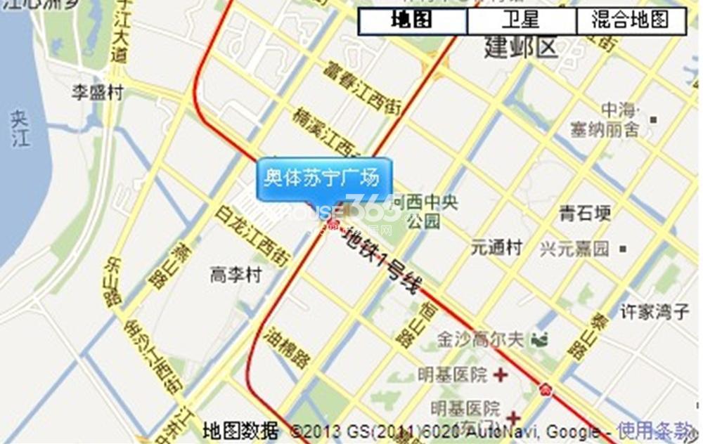 奥体苏宁广场交通图