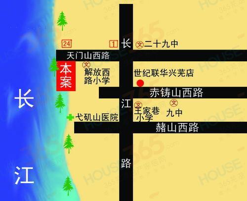 春江花园交通图