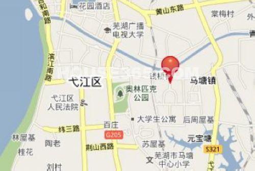 中国芜湖商品交易博览城交通图