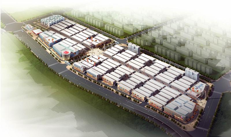 中国芜湖商品交易博览城鸟瞰图
