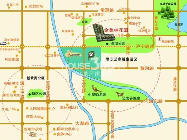 金美林花园交通图
