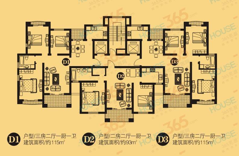 圣地雅歌D1户型图