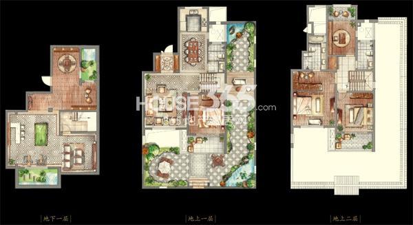 金山别墅叠院别墅 199.57㎡3室5厅1厨3卫