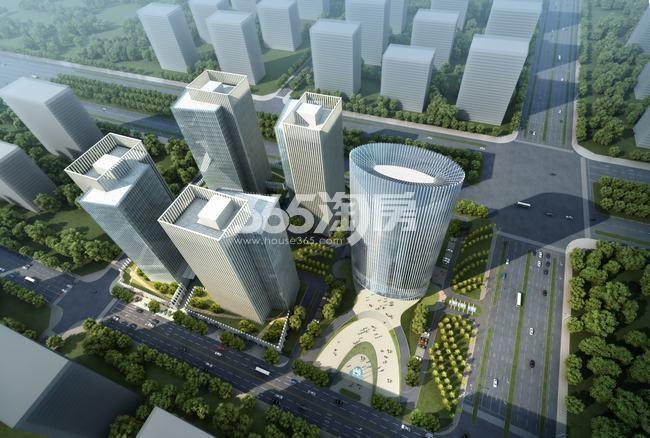 航天城中心广场鸟瞰图