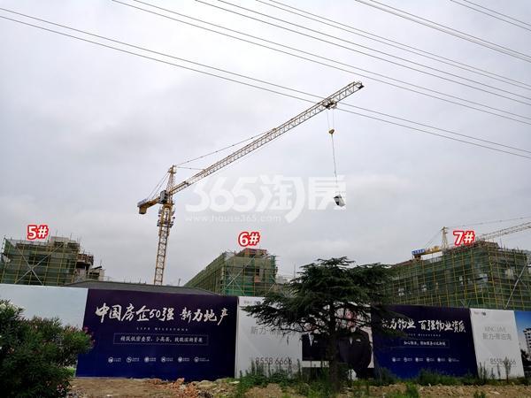 新力帝泊湾5#、6#、7#楼叠墅工程进度实景(2018.7摄)