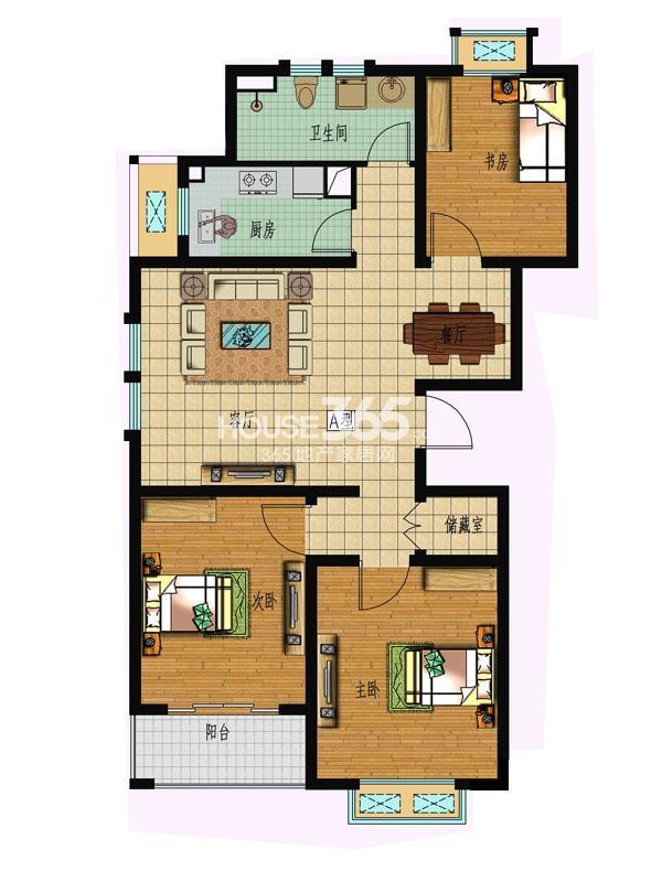 【枫林湾】15#楼3室2厅1卫1厨 110.44平米
