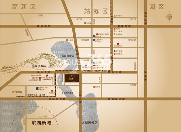 水岸清华瀚宫交通图