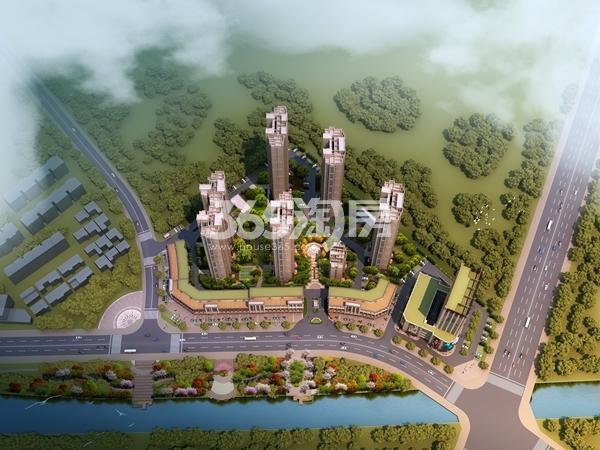 济河未来城鸟瞰图