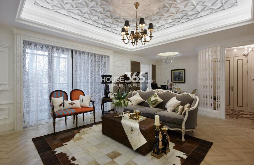 越秀星汇城140方样板房 D户型--客厅