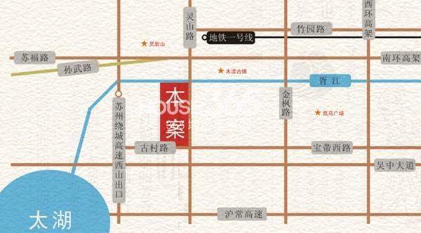 香山里交通图