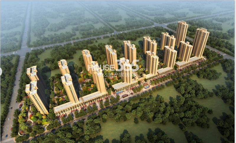 中南锦城鸟瞰图