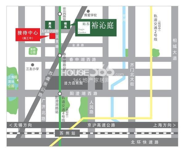 姑苏裕沁庭锦苑交通图