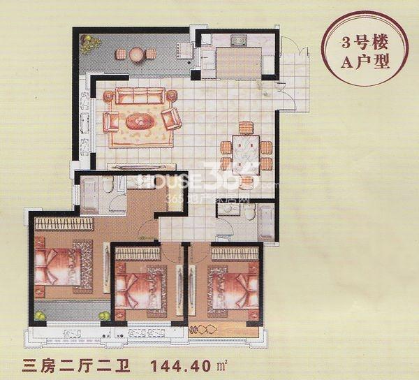 香榭一品3#楼A3户型