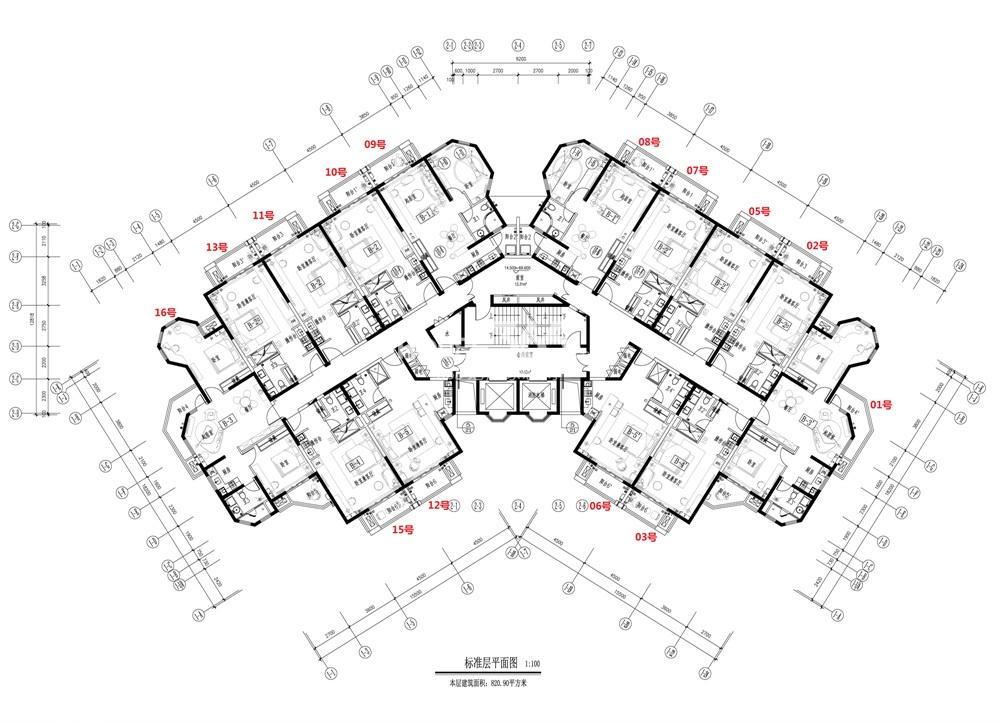那香海1号楼户型分布图