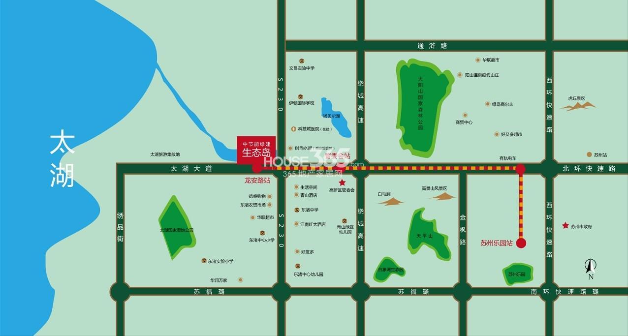 中节能生态岛交通图