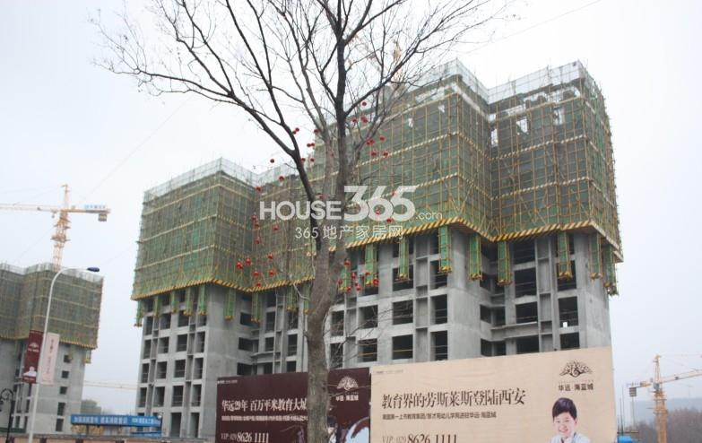 华远海蓝城二期施工进度图(2013.4)
