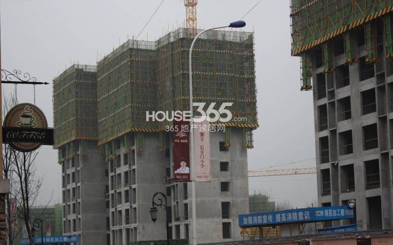 华远海蓝城二期施工进度图(2013.3)