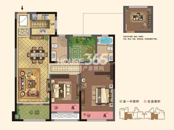 2#楼  B户型 2+1房2厅2卫