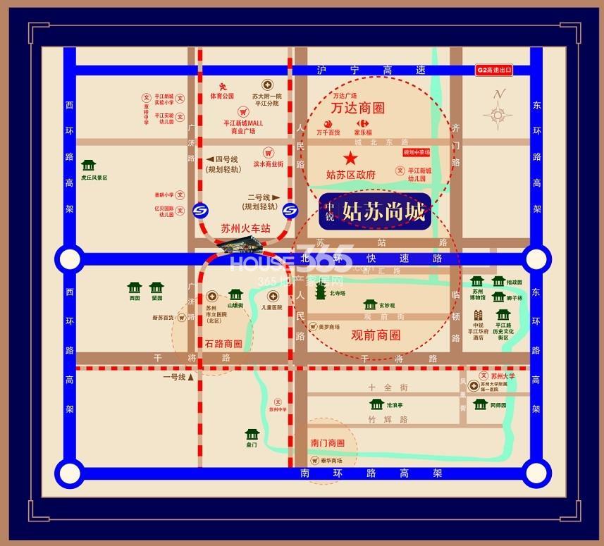 中锐尚城花园交通图