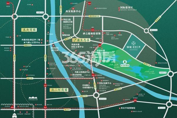 绿城桂语江南交通图