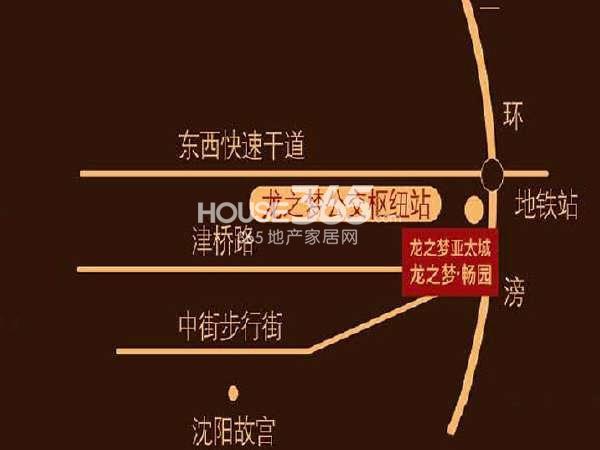 龙之梦畅园交通图