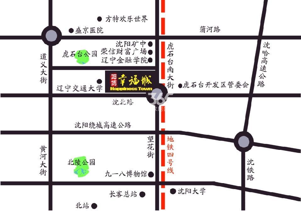 坤博幸福城交通图